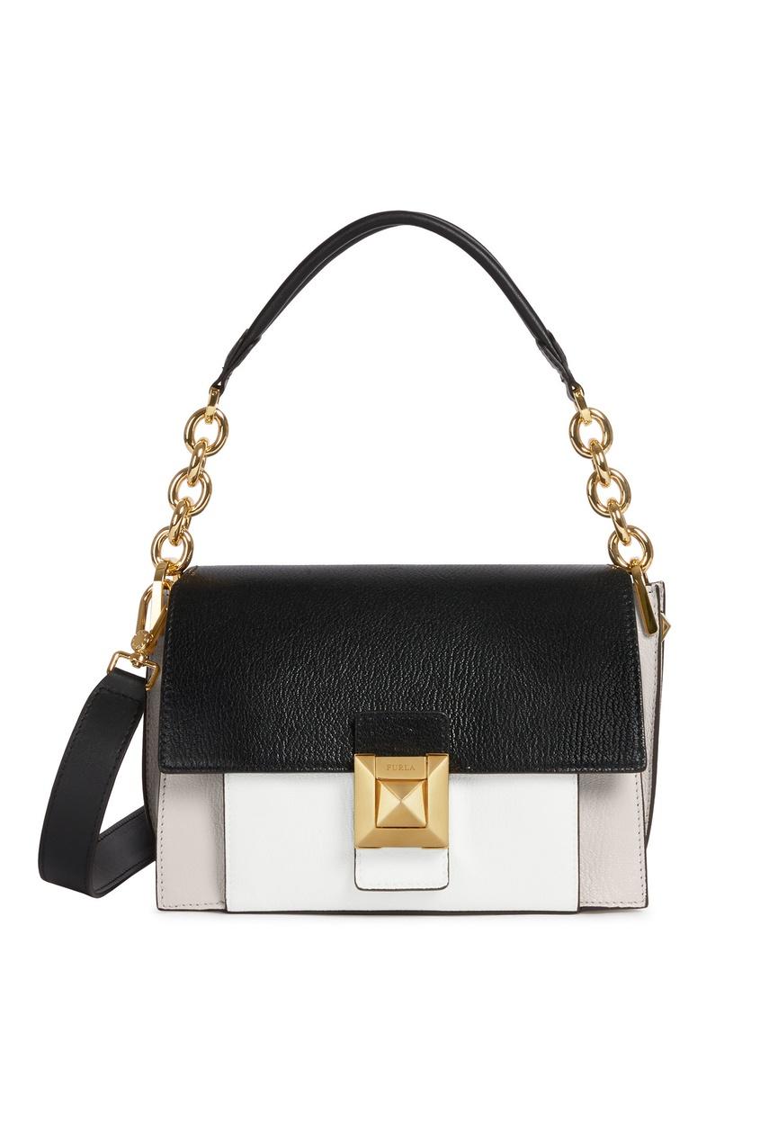 Купить Комбинированная сумка Diva бежевого цвета