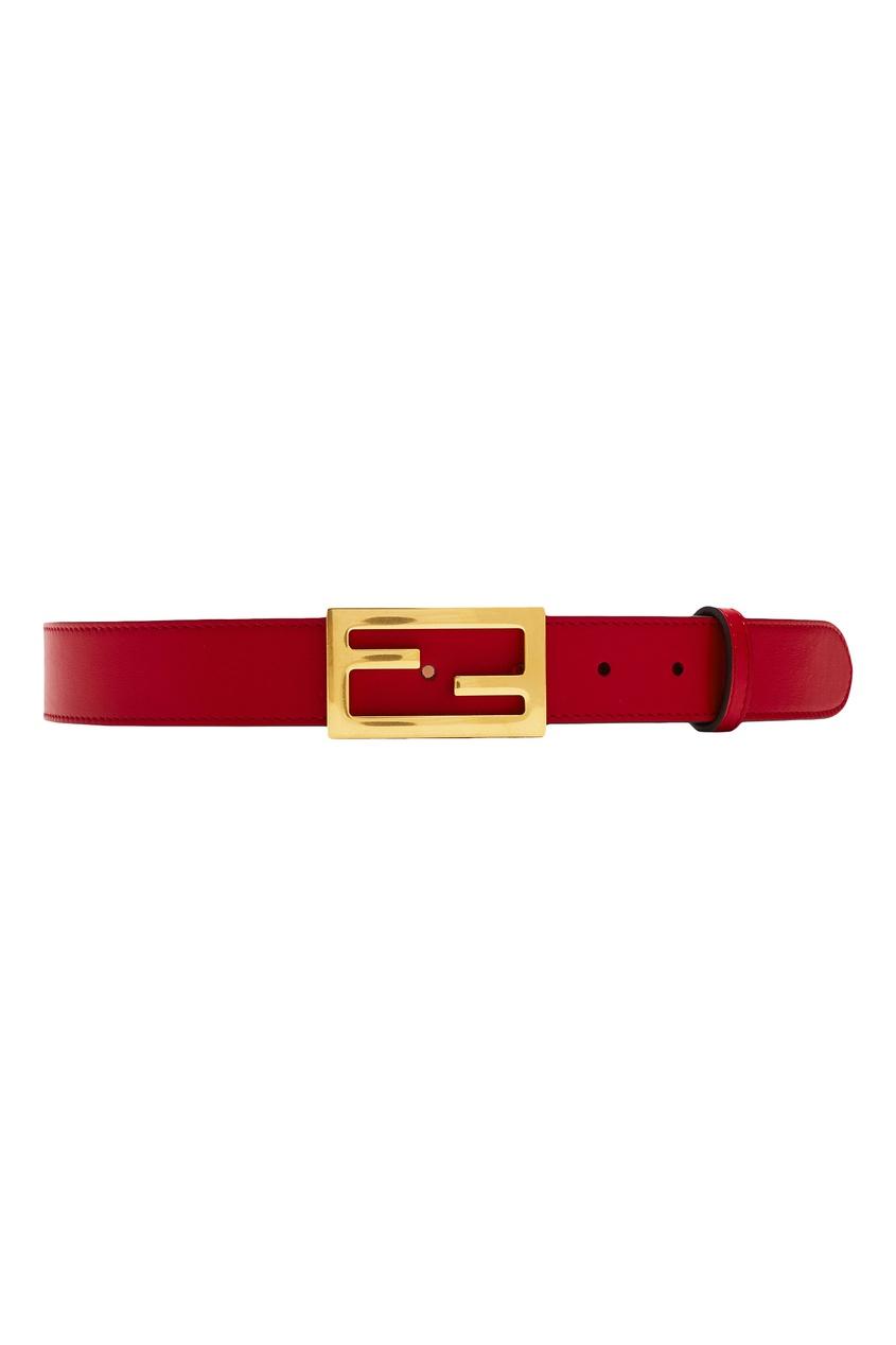 Купить Ремень красного цвета с монограммой от Fendi красного цвета