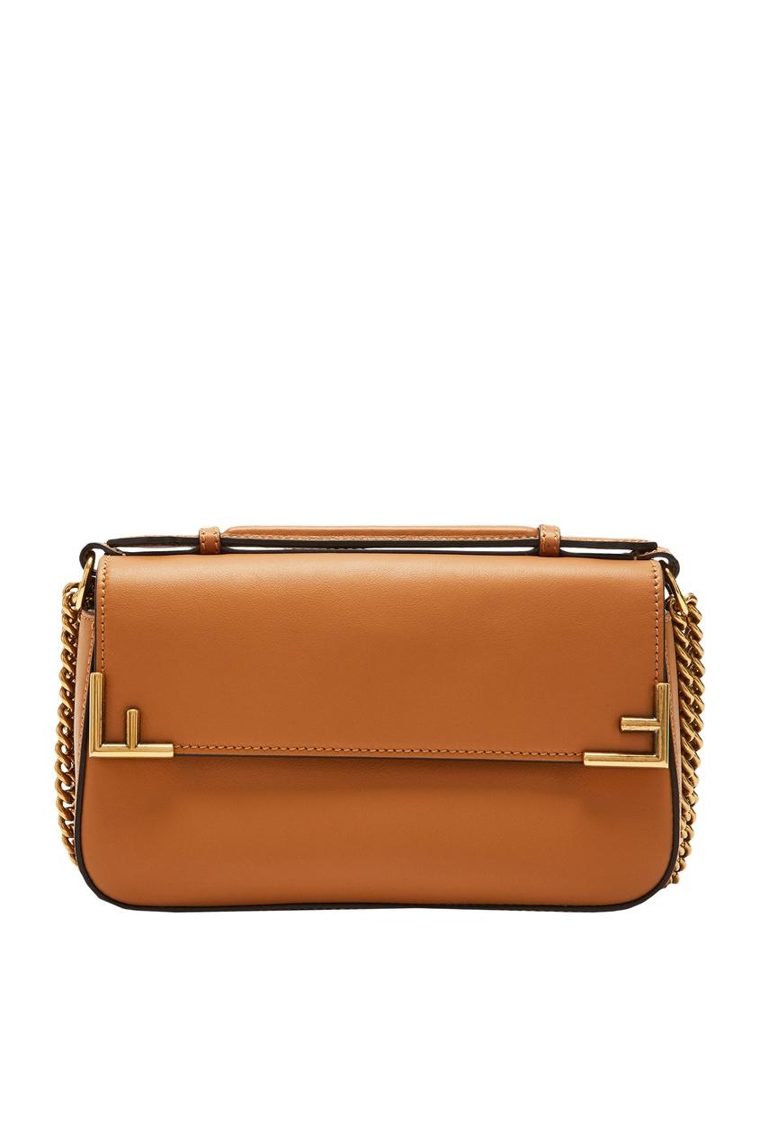 Купить Коричневая сумка Double F от Fendi коричневого цвета