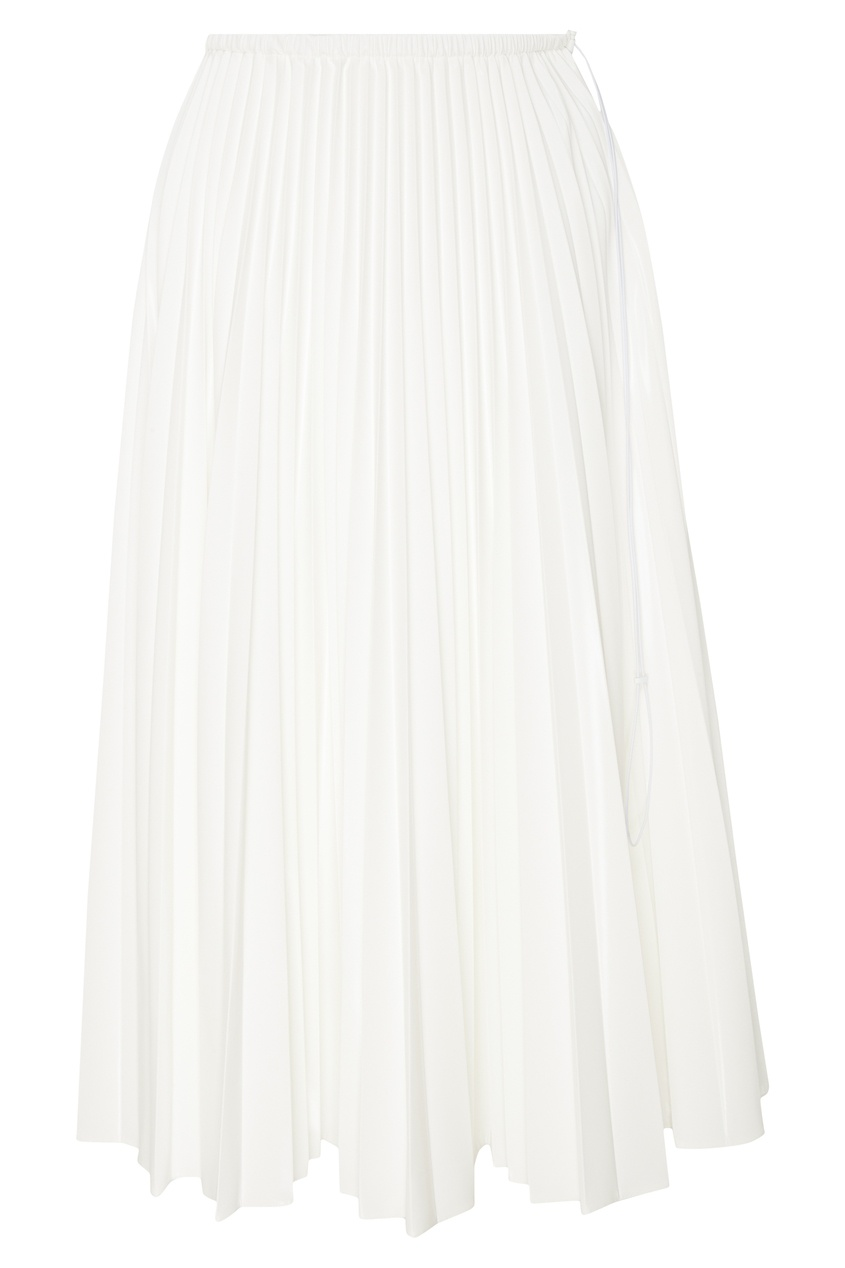 Купить Плиссированная юбка белого цвета от Fendi белого цвета