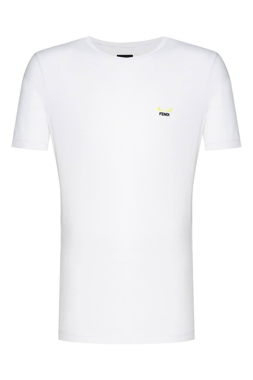 мужская футболка fendi, белая