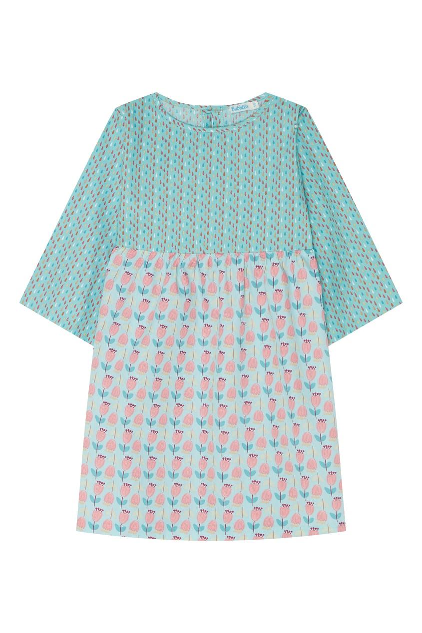Голубое хлопковое платье бэби-долл Bubbles