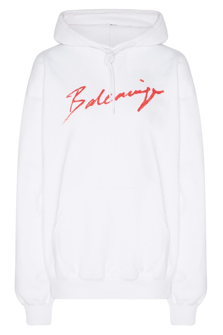 женские худи balenciaga, белые