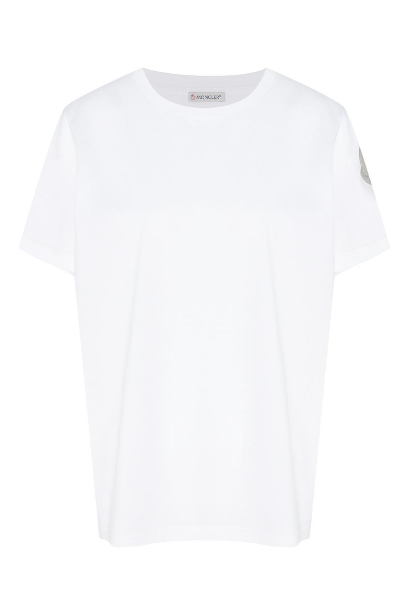 женская футболка moncler, белая