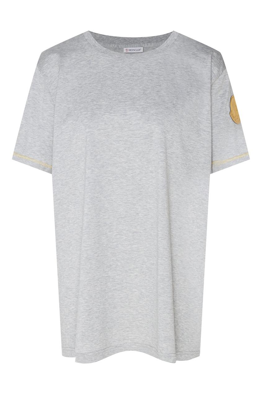 женская футболка moncler, серая