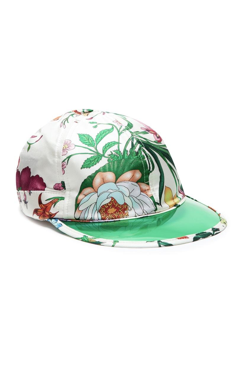 Шелковая кепка из коллекции «Флора» от Gucci Man