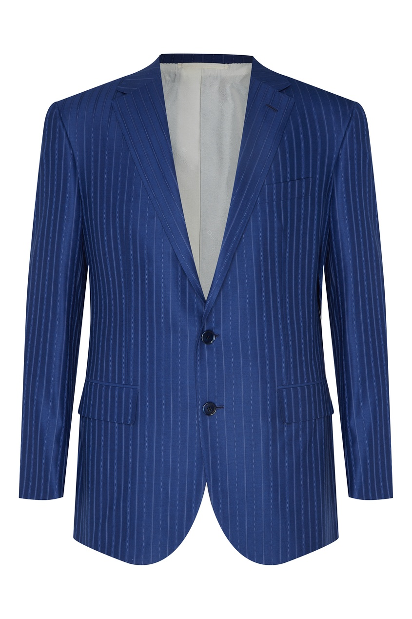Голубой костюм из шерсти Stefano Ricci
