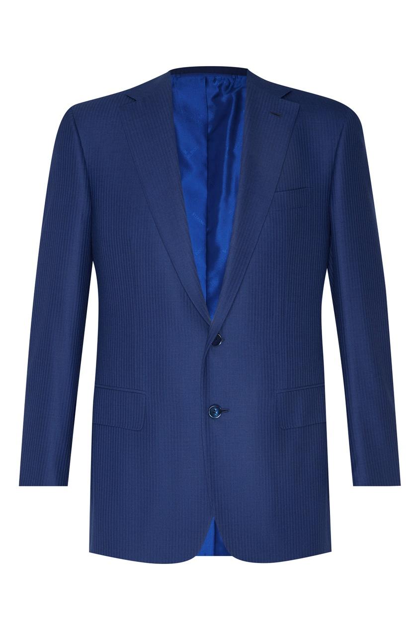 Шерстяной голубой костюм Stefano Ricci