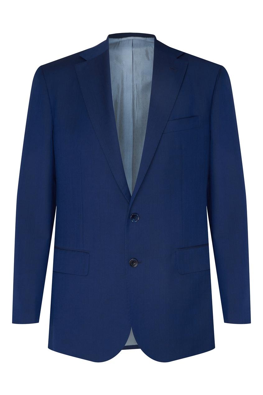 Синий брючный костюм Stefano Ricci