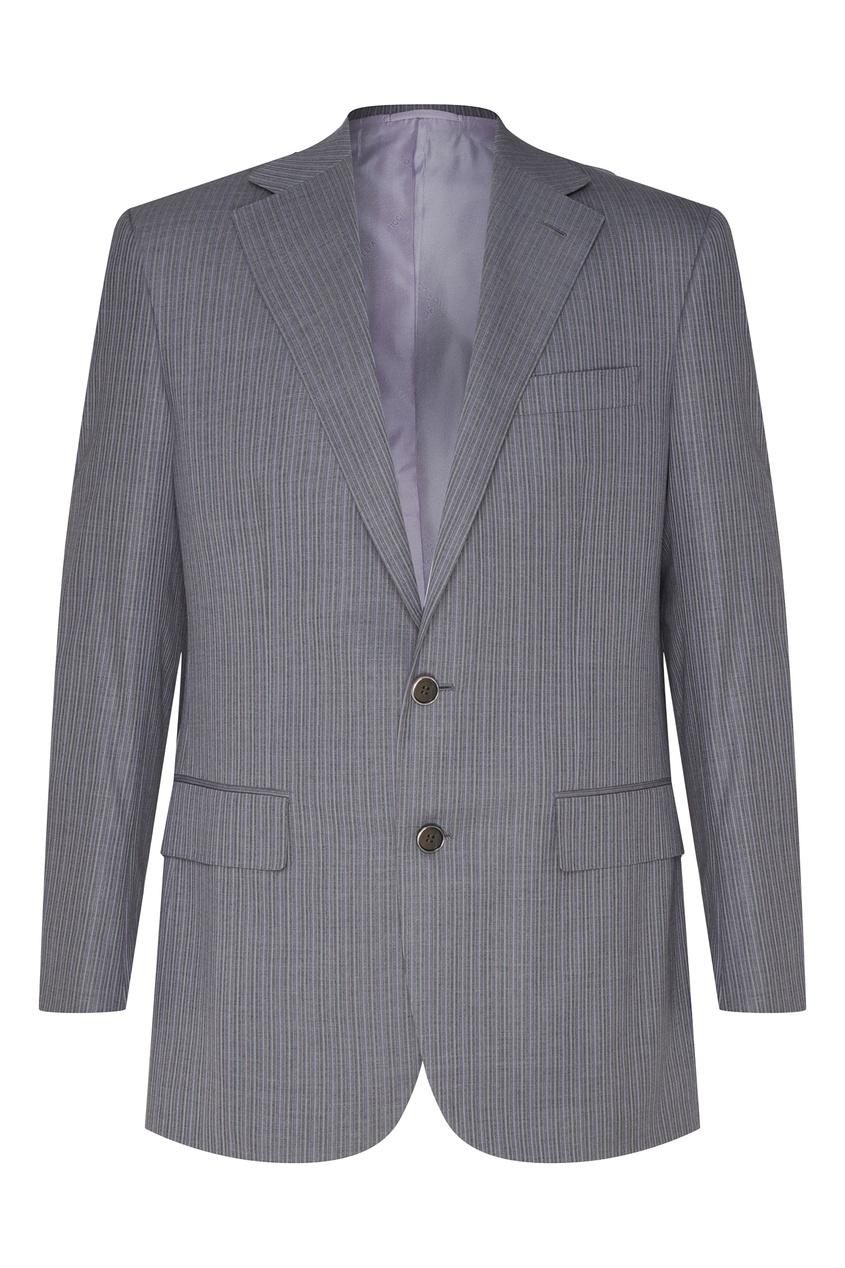 Шерстяной костюм серого цвета Stefano Ricci