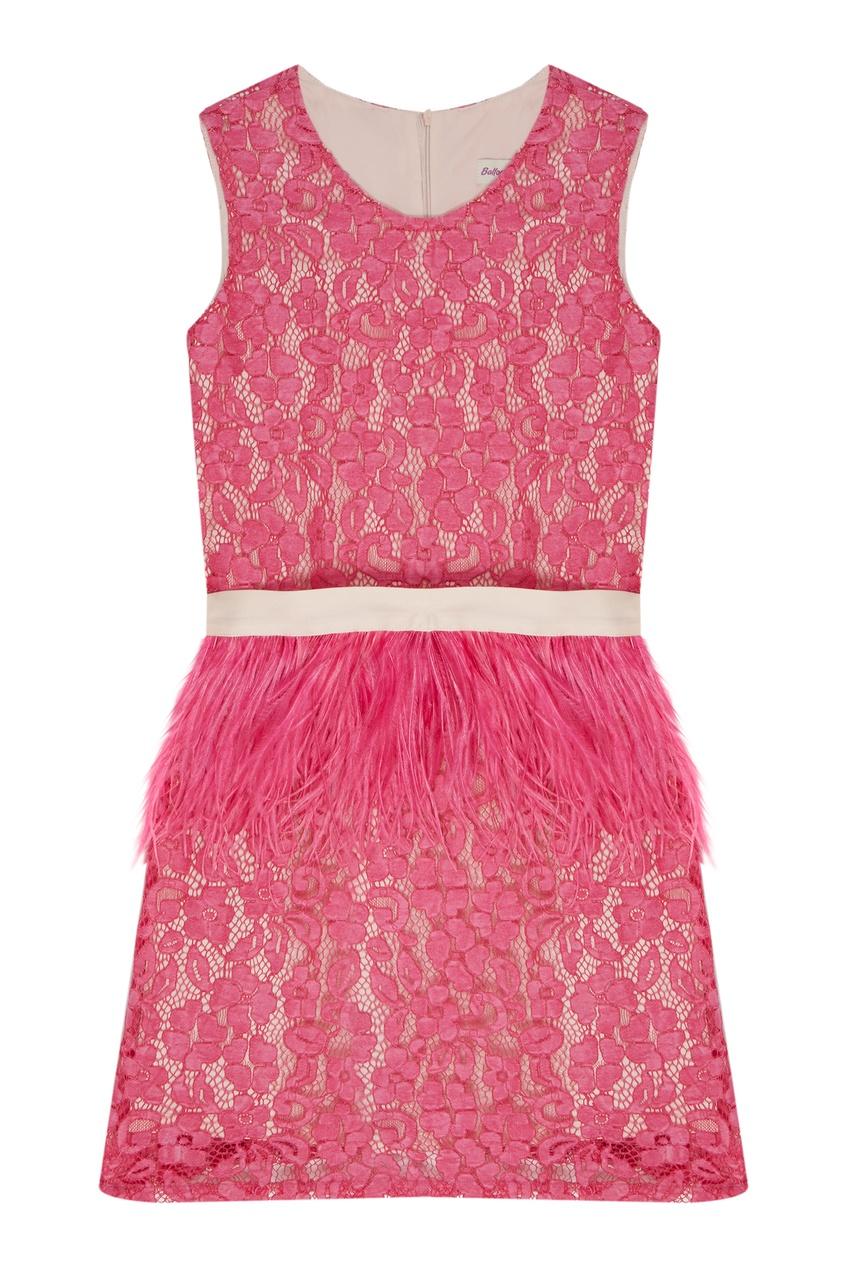 Розовое платье с перьями Balloon and Butterfly