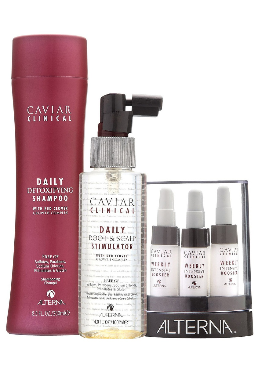 Alterna Набор Caviar Clinical 3-Part System alterna спрей активатор для роста волос caviar clinical daily root and scalp stimulator 100 мл