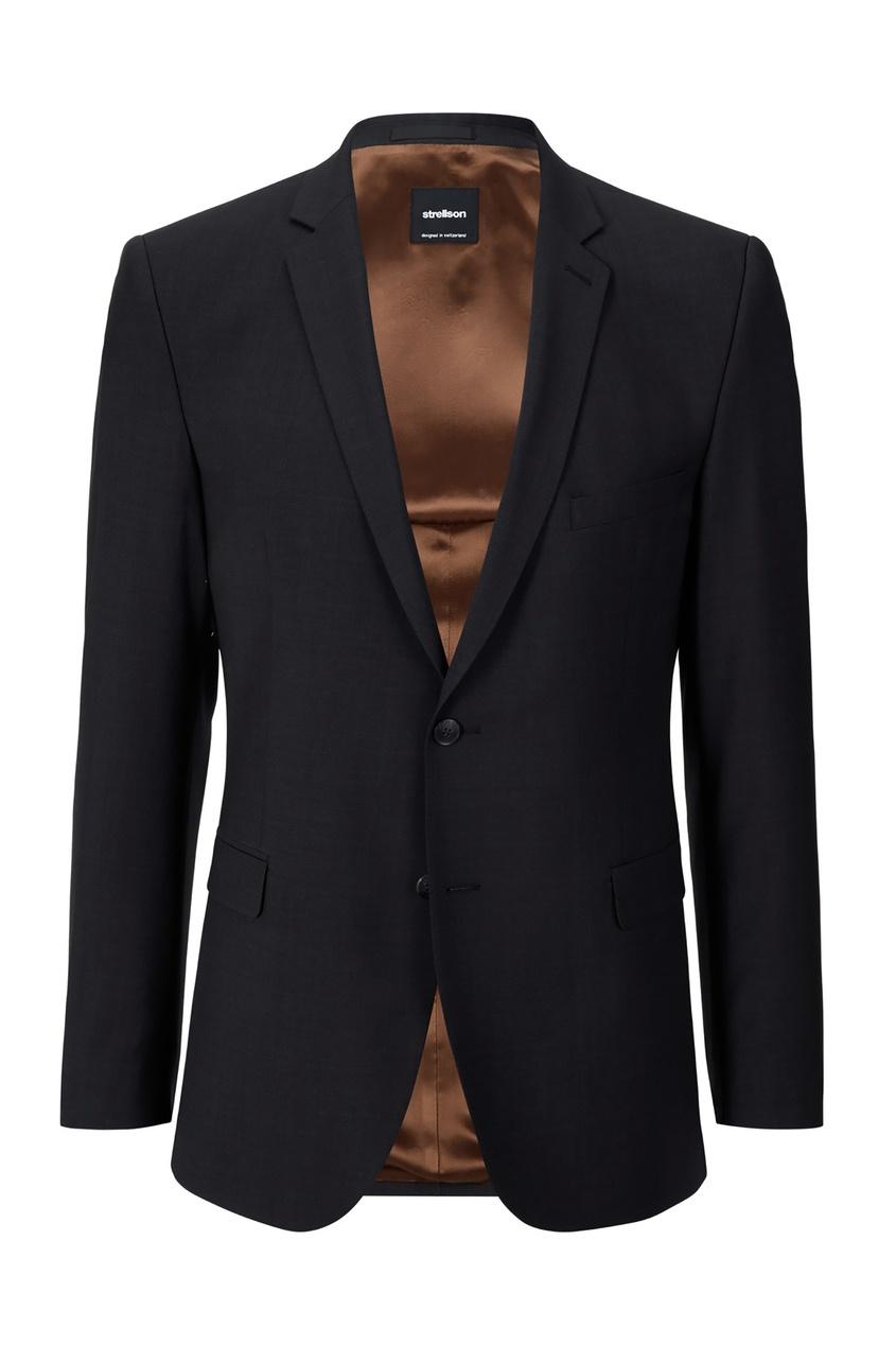 Черный классический пиджак на двух пуговицах Strellson