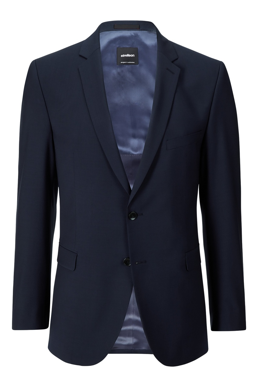 Купить со скидкой Синий однобортный пиджак