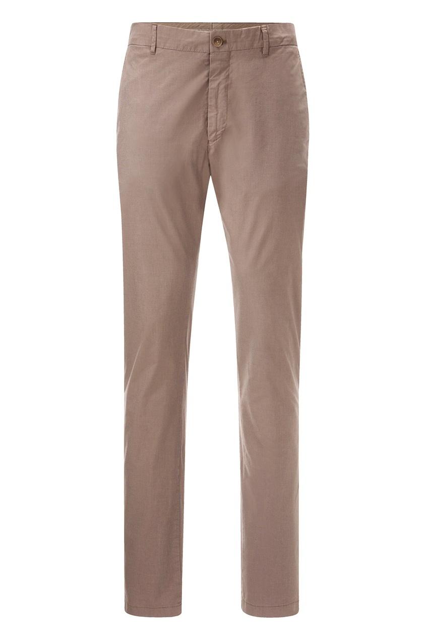 Купить со скидкой Бежево-коричневые зауженные брюки