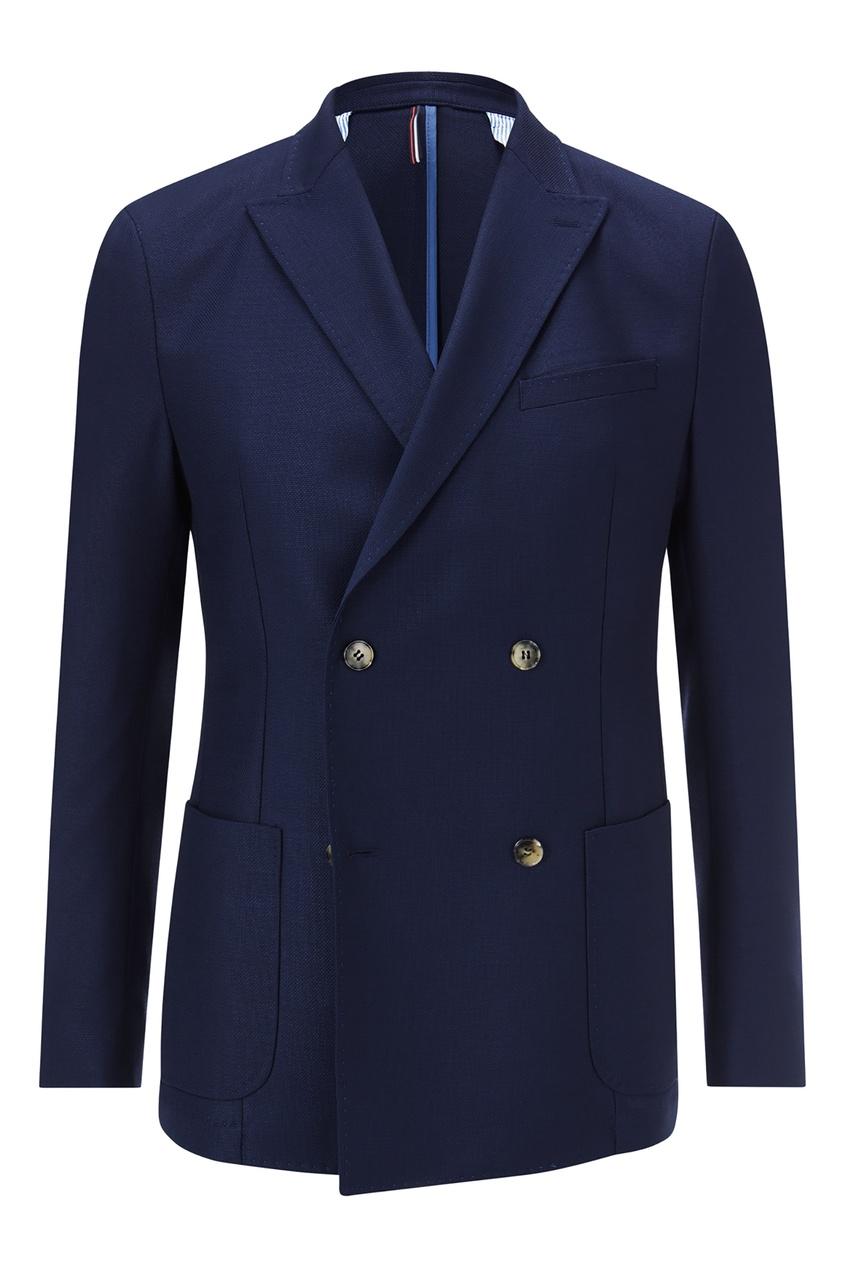 Синий двубортный пиджак Strellson