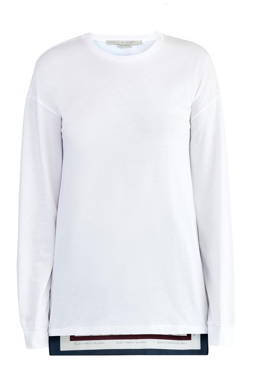 Купить Джемпер с платочным принтом на спине от Stella McCartney белого цвета