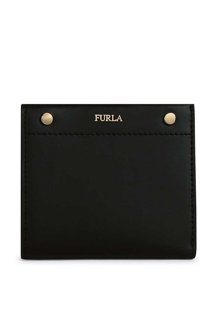 Купить Черный кошелек из гладкой кожи черного цвета