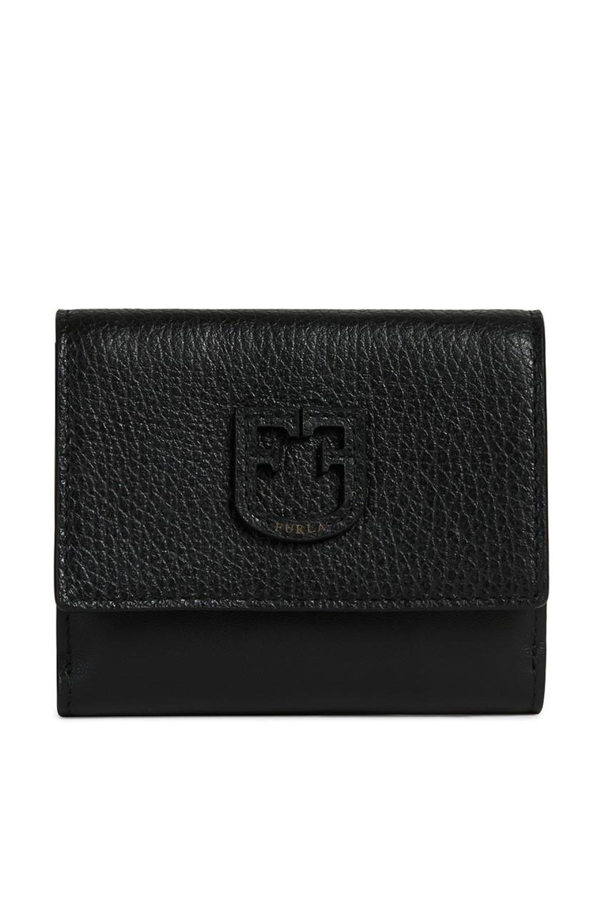 Купить Черный кожаный кошелек Dea черного цвета