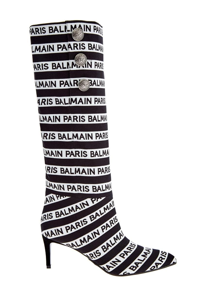 Купить Сапоги в полоску с логотипом от Balmain цвет multicolor