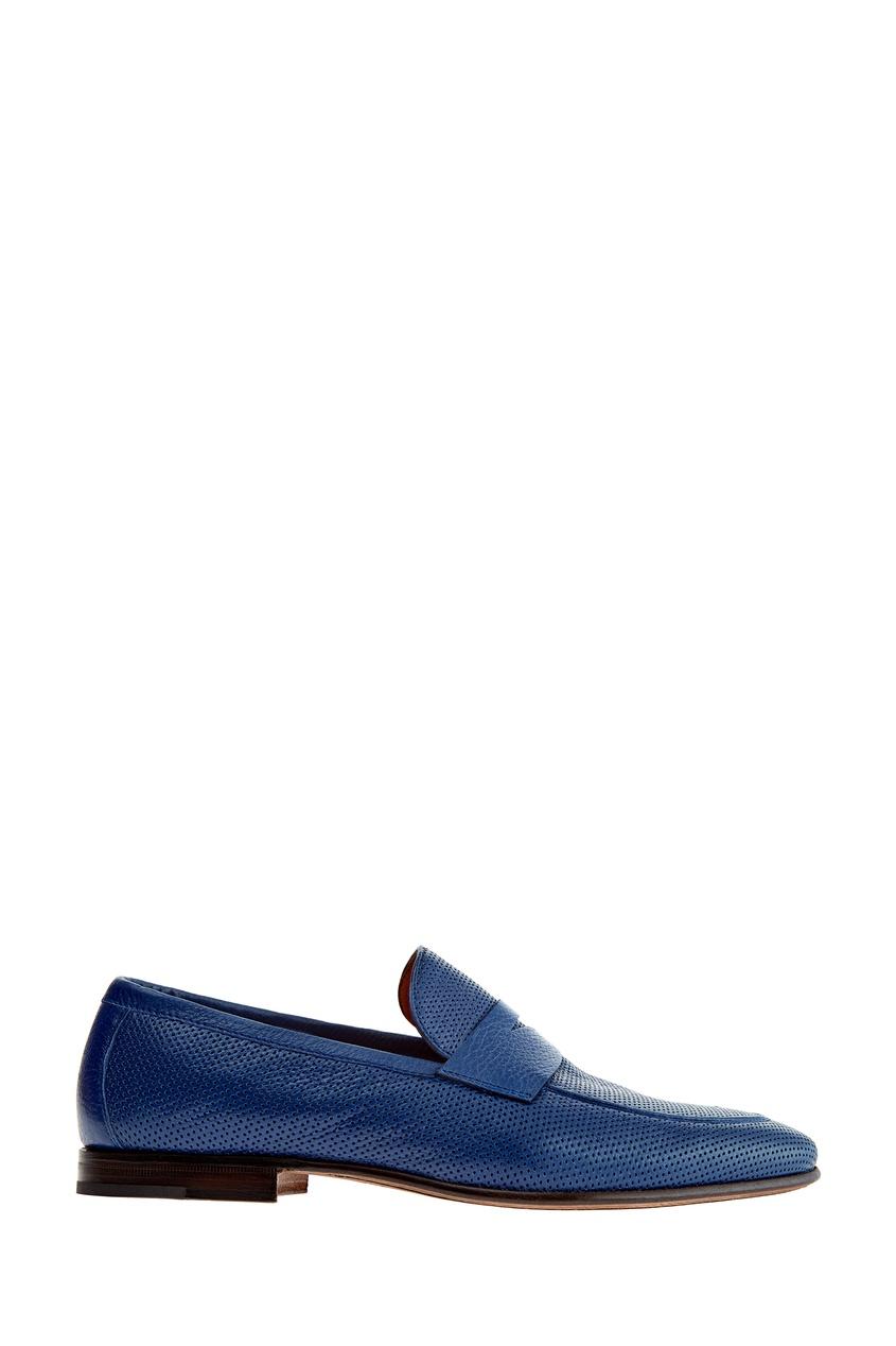 мужские лоферы moreschi, синие