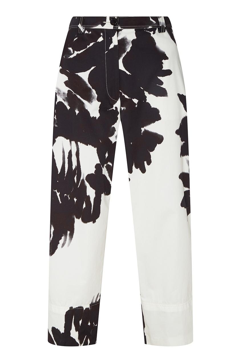 Купить Широкие черно-белые брюки от Dries Van Noten черно-белого цвета