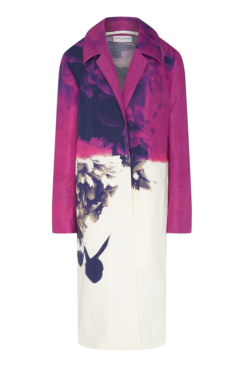 Купить Летнее пальто с принтом от Dries Van Noten цвет multicolor