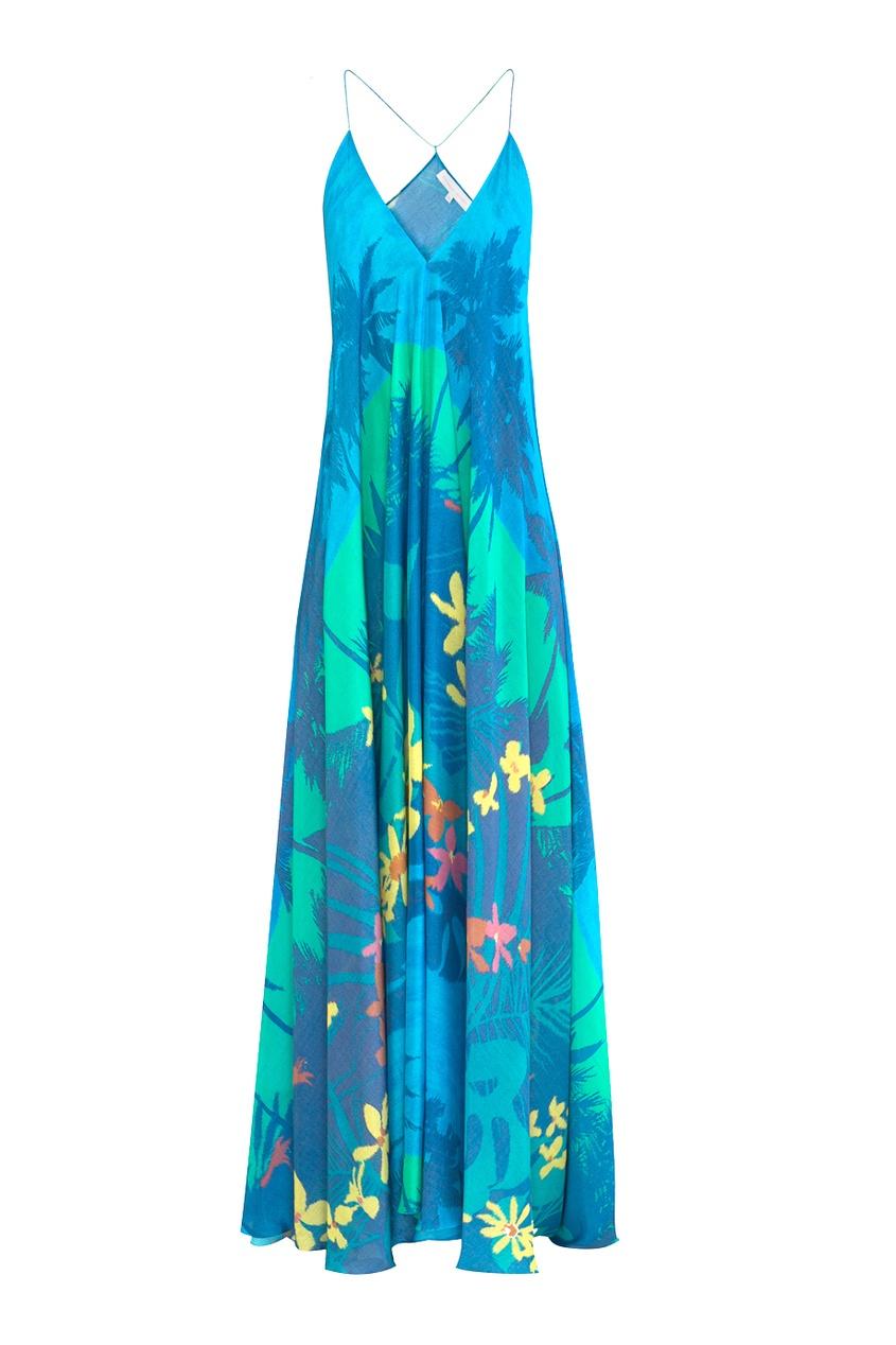 Платье с тропическим принтом