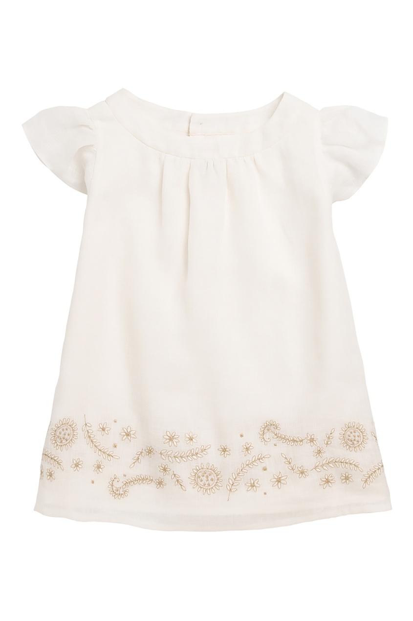Белая блуза Bonpoint