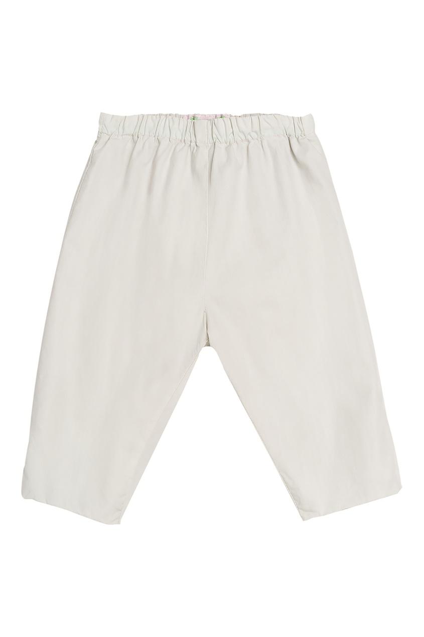 Белые брюки на резинке от Bonpoint