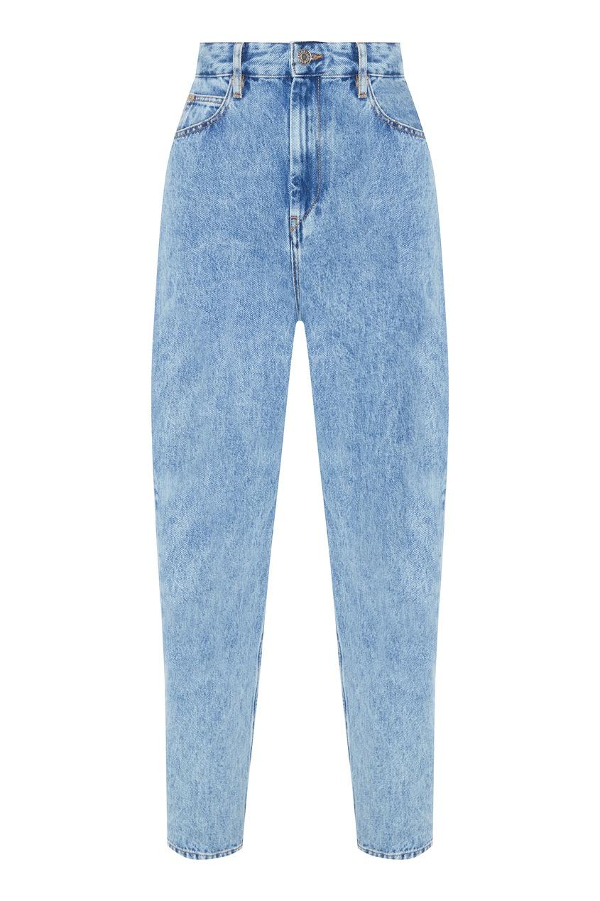 Купить со скидкой Синие джинсы из вареного денима