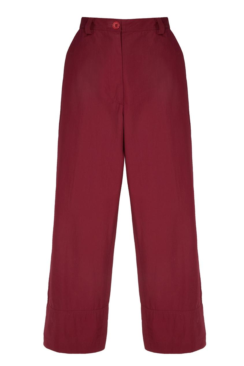 Купить Широкие бордовые брюки от Dries Van Noten розового цвета