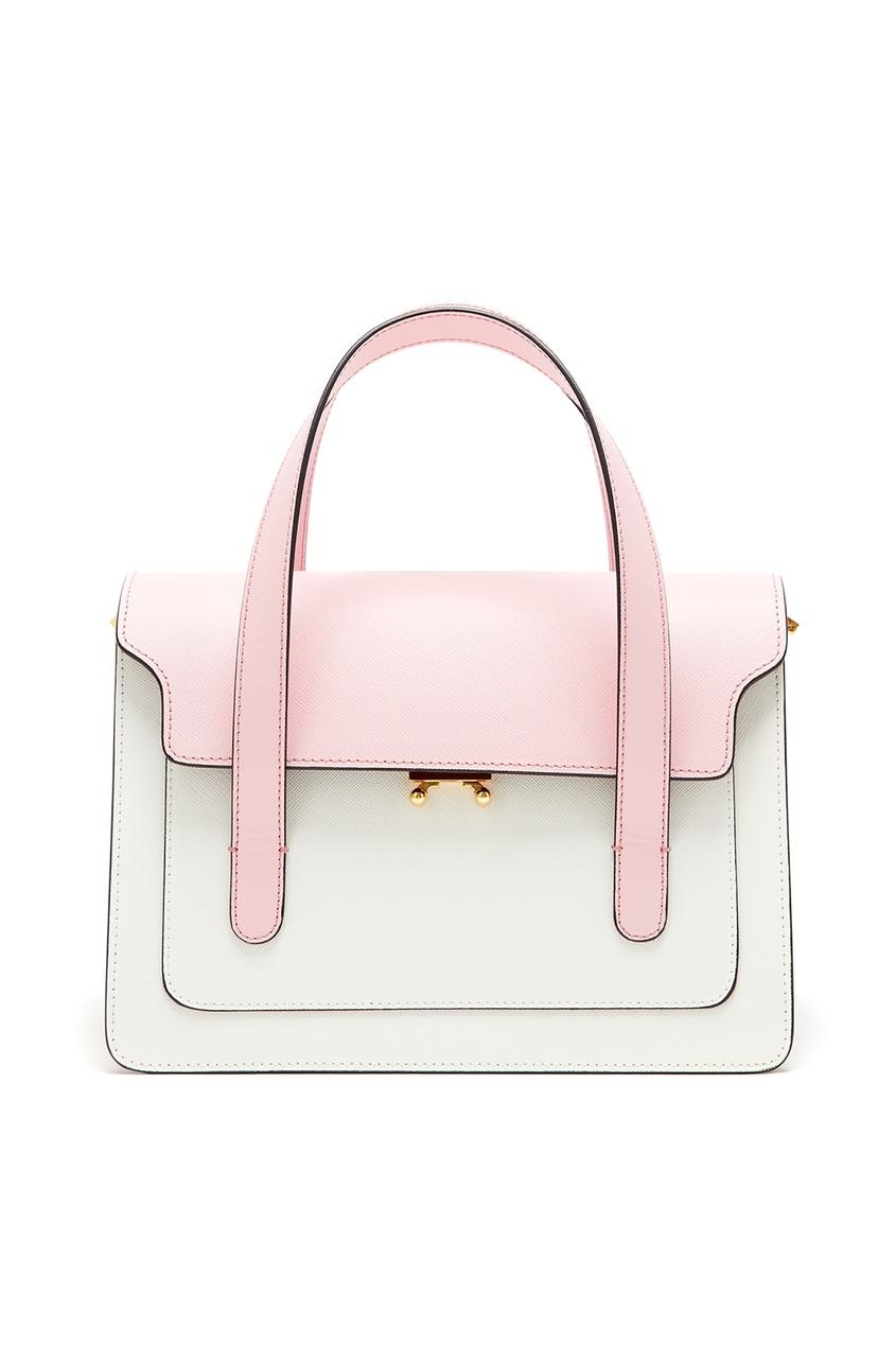 Купить Разноцветная кожаная сумка от Marni розового цвета