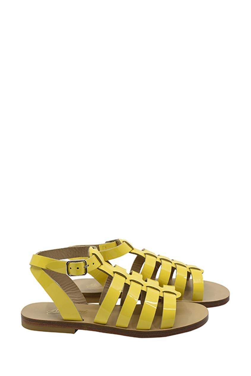 Желтые сандалии от Bonpoint