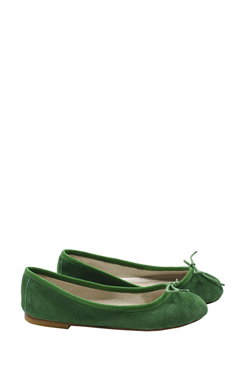 Зеленые балетки от Bonpoint