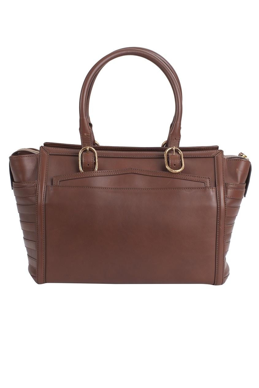 Кожаная сумка Farida Bowler Calf Paris