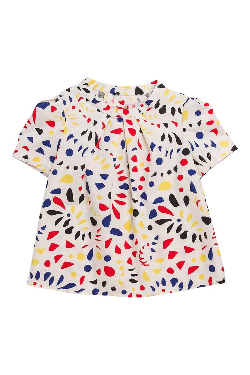 Блуза с ярком притом Bonpoint