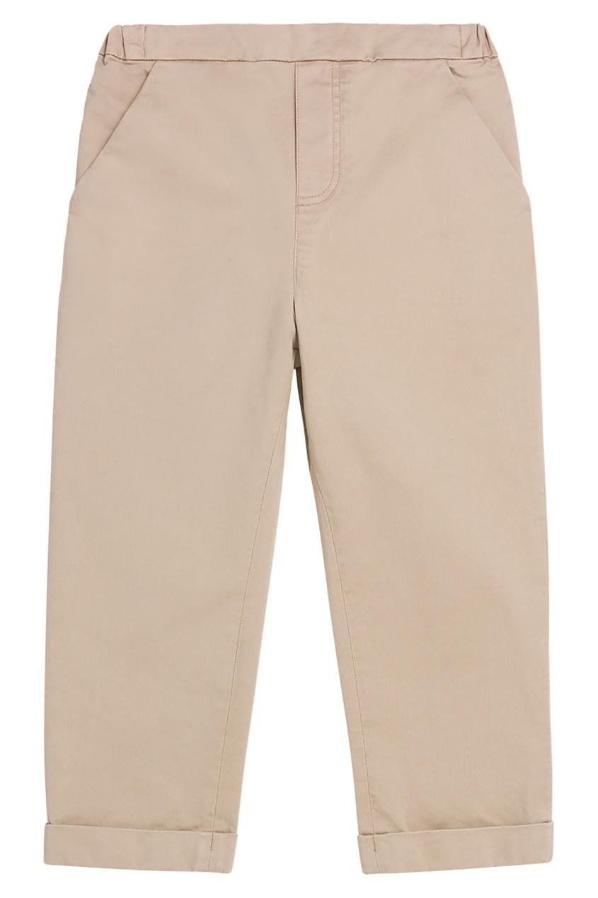 Бежевые брюки с карманами Bonpoint
