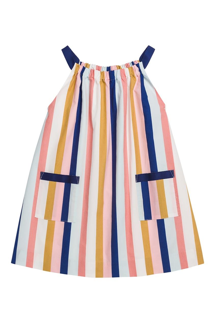 Купить Платье в полоску цвет multicolor