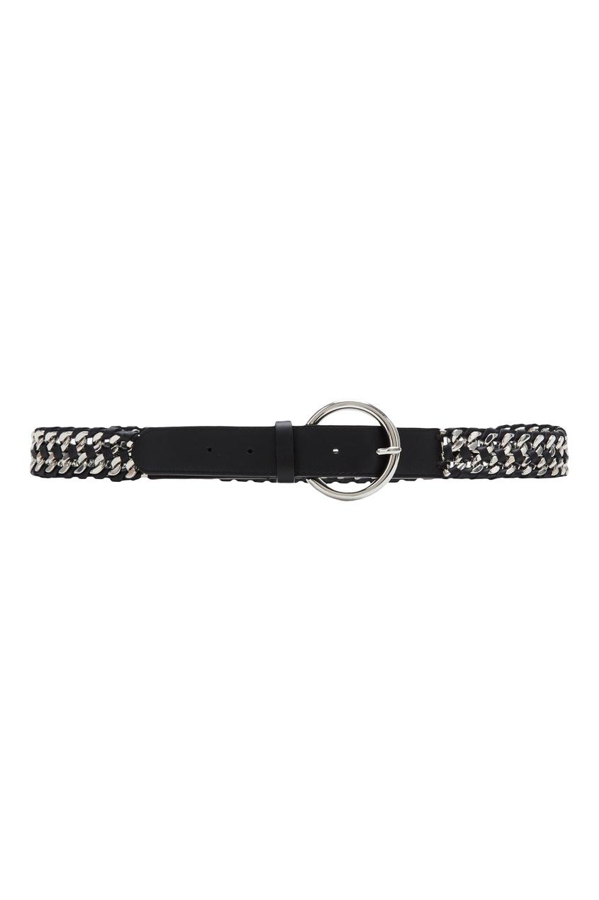 Купить Черный ремень с цепью от Sandro черного цвета