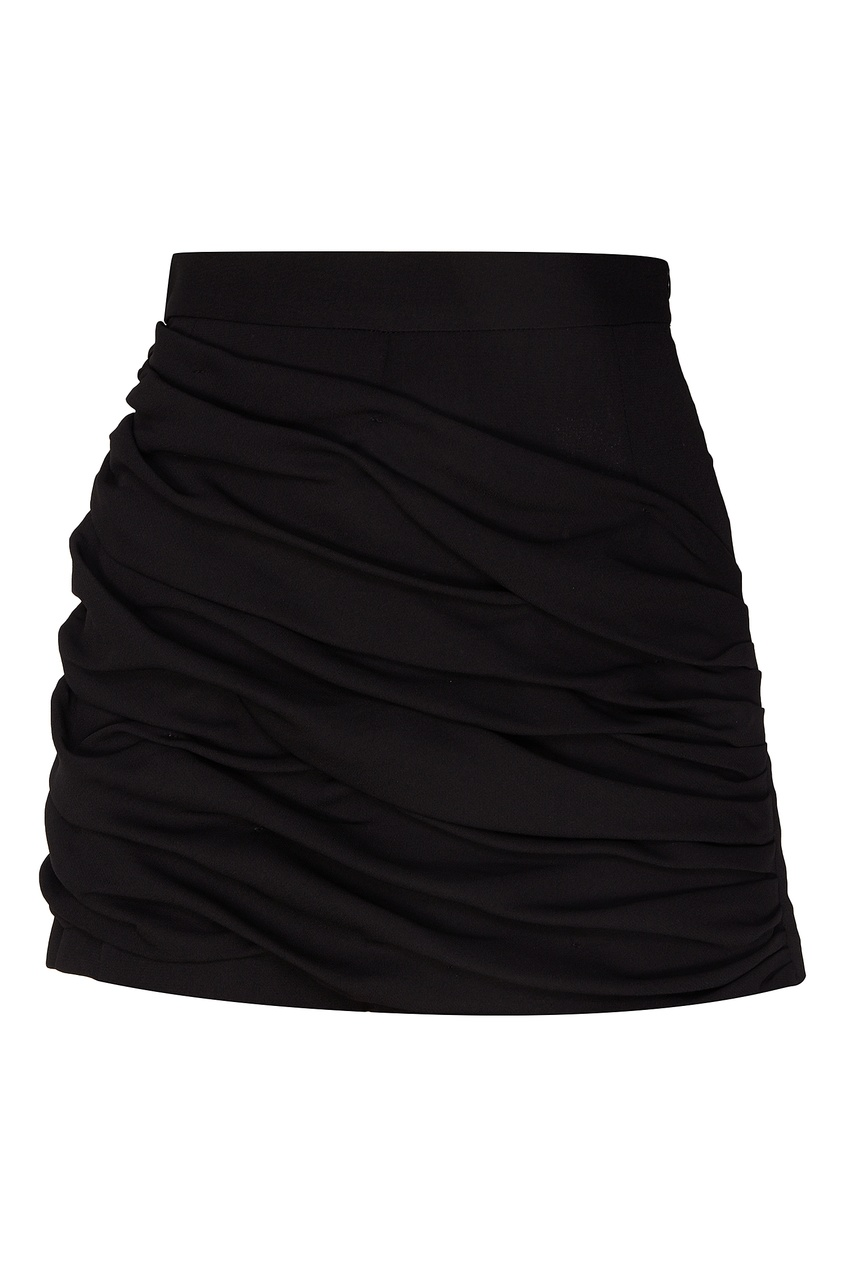 Купить Черные шорты с драпировкой от Sandro черного цвета