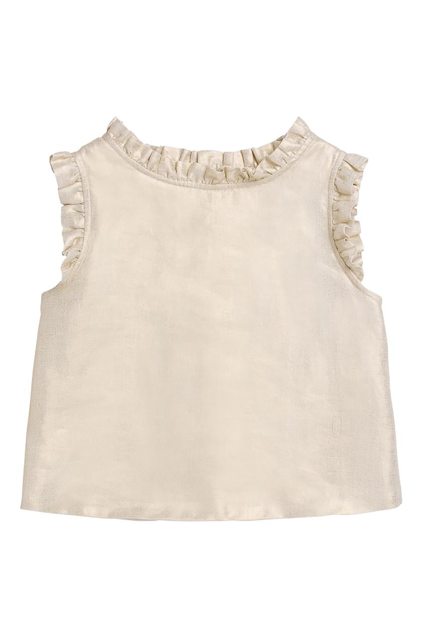 Золотистая блузка Bonpoint