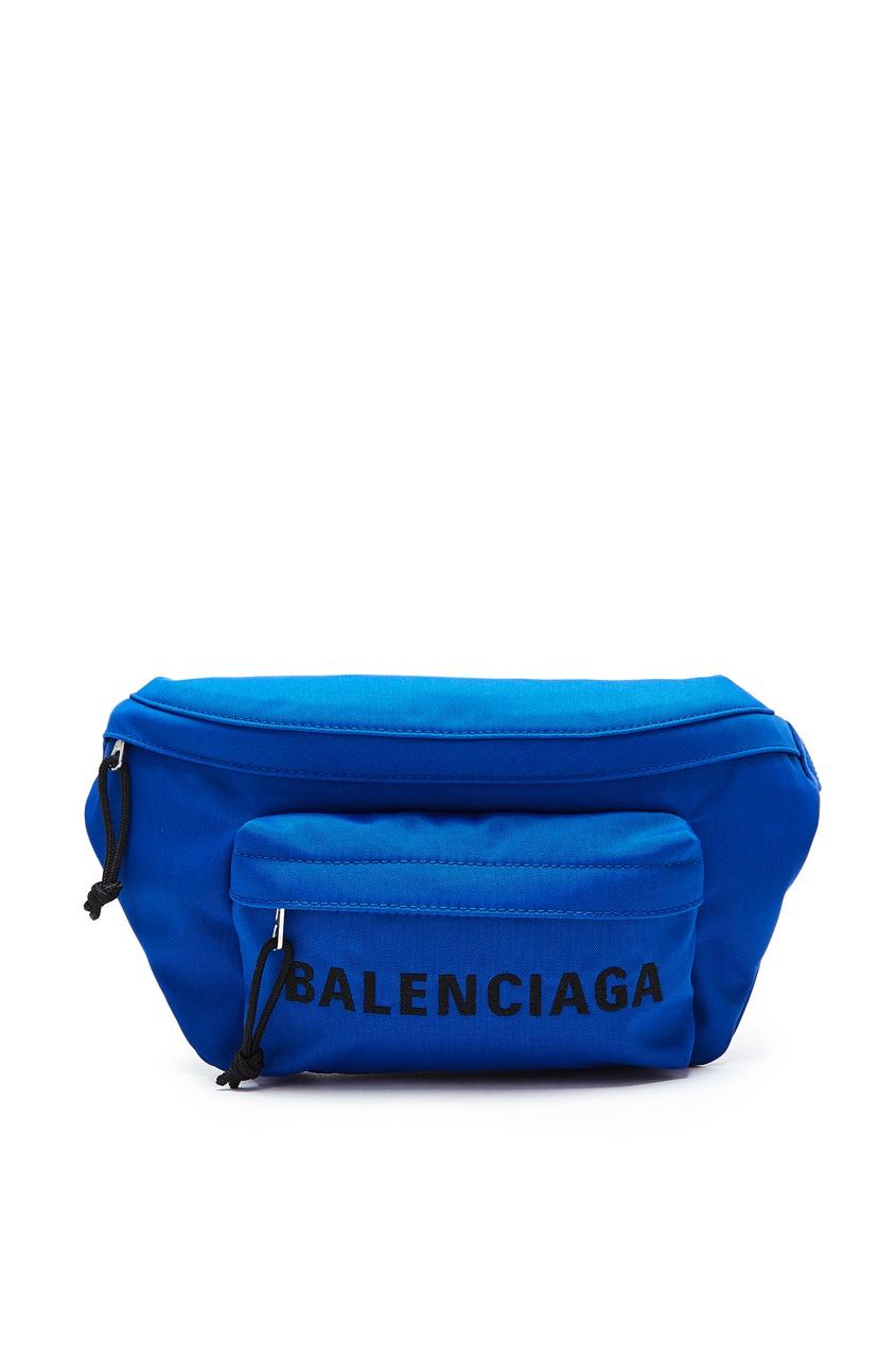 мужская сумка balenciaga man, синяя