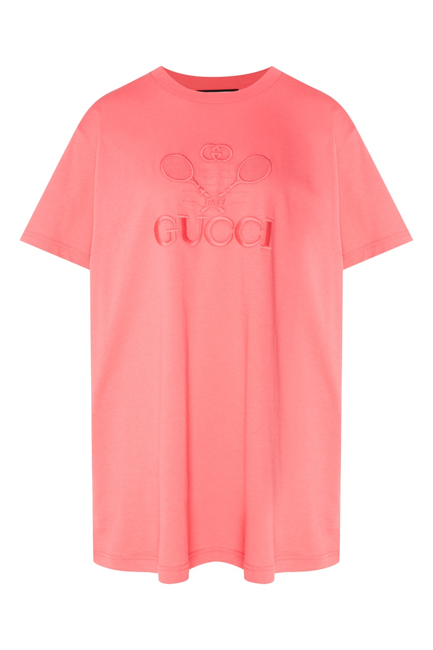 Купить Розовая футболка Gucci Tennis розового цвета