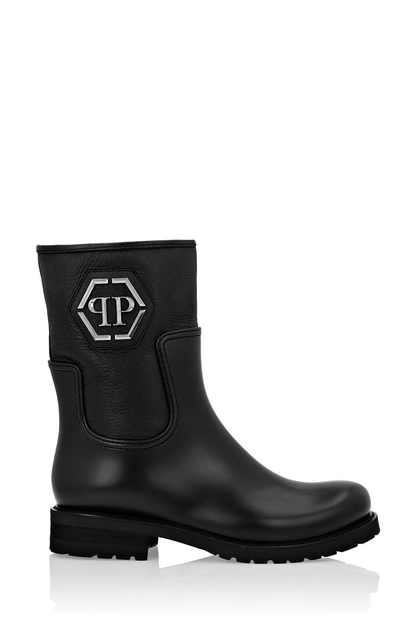 мужские ботинки philipp plein, черные