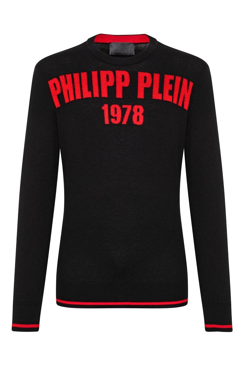 мужской свитер philipp plein, черный