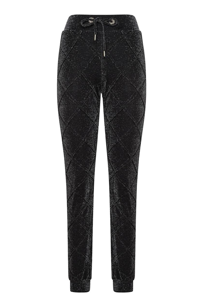 Купить Черные брюки в стиле спорт-шик от Philipp Plein черного цвета
