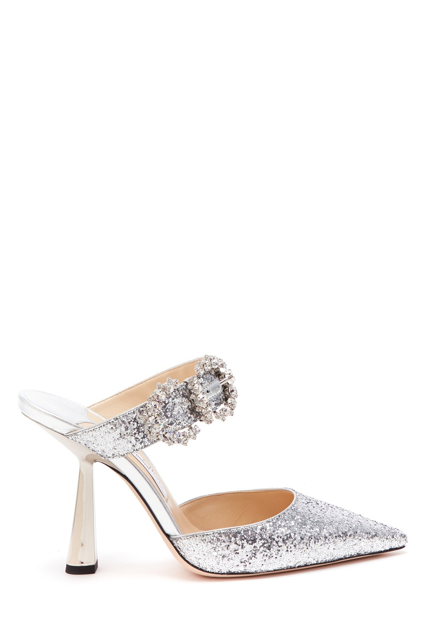женские туфли jimmy choo, серебряные