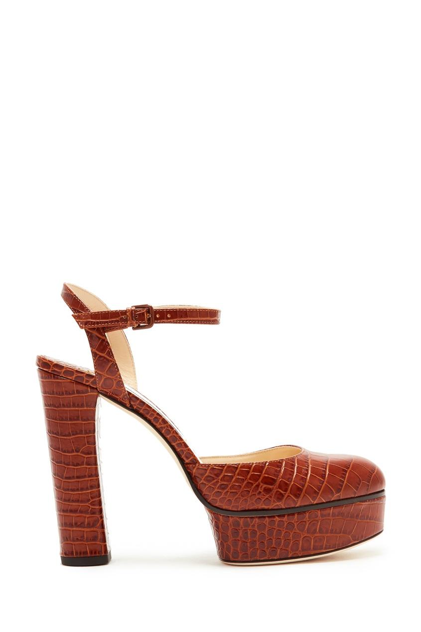 женские босоножки jimmy choo, коричневые