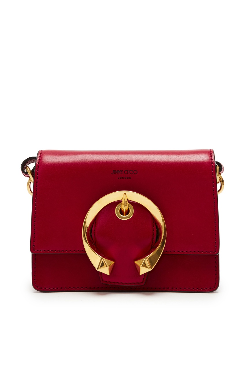 женская сумка jimmy choo, красная